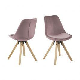 Krzesło Dima VIC Actona brudny róż-drewno kauczukowe