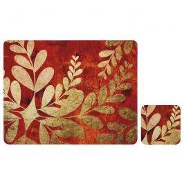 Zestaw 4 szt. podkładek 10x10cm Ladelle Golden Foliage rdzawo-złoty