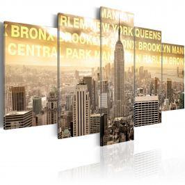 Obraz - Manhattan, Queens, Bronx, Central Park ... (100x50 cm)