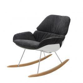 Fotel bujany 75x99x89cm King Home Nino ciemno-szary
