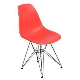 Krzesło chromowane 46x40x81cm D2 P016 PP ciemna brzoskwinia