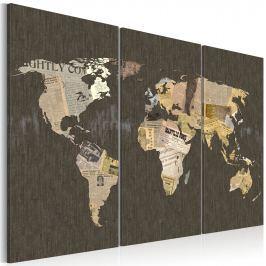 Obraz - Wiadomości ze świata - tryptyk (60x40 cm)