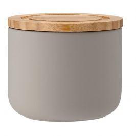 Ceramiczny pojemnik z bambusowym wieczkiem 9cm Stak Soft Matt Ladelle szary