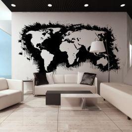 Fototapeta - Białe kontynenty, czarne oceany... (550x270 cm)
