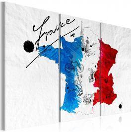 Obraz - Witamy we Francji! - tryptyk (60x40 cm)