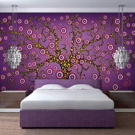 Fototapeta - abstrakcja: drzewo (fioletowy) (200x154 cm)