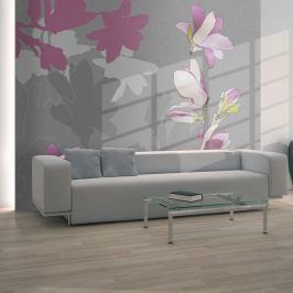Fototapeta - magnolia (różowy) (200x154 cm)