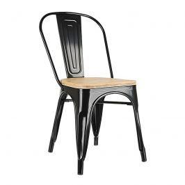Krzesło 45x53x84,5cm King Home Tower Wood sosna/czarne