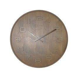 Zegar 35 cm NeXtime Wood Wood Medium brązowy