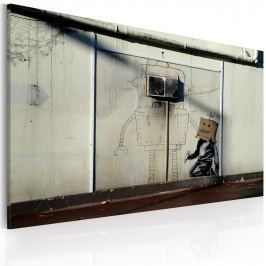 Obraz - Roboty (Banksy) (60x40 cm)