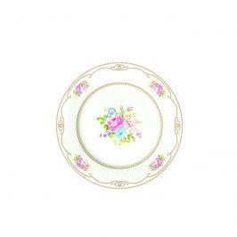 Talerz płytki Nuova R2S Vintage Bouquet biały