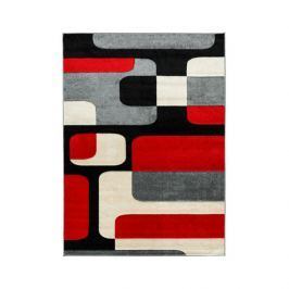 Dywan FIRE 200x290 100 GREY RED 6310