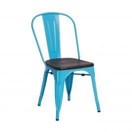 Krzesło Paris Wood D2 niebieskie/sosna orzech