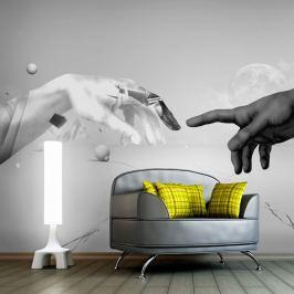 Fototapeta - Intergalactic touch (200x154 cm)