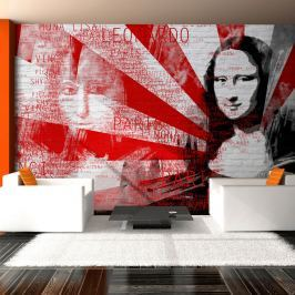Fototapeta - Nowoczesny kolaż z motywem Mony Lisy (200x154 cm)