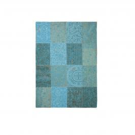 Dywan naturalny 140x200 cm Louis De Poortere Vintage Patchwork Azur turkusowy