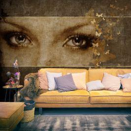 Fototapeta - Kobieta i motyle (200x154 cm)