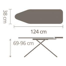 BRABANTIA - Deska do prasowania - rozmiar A - Cotton Flower