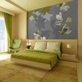 Fototapeta - Zielone magnolie (200x154 cm)