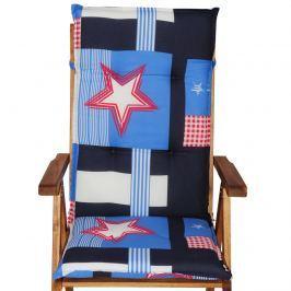 Poduszka na krzesło ogrodowe ACA Bazkar 120x50cm wielokolorowa