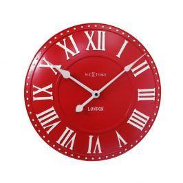 Zegar 34,5 cm NeXtime London Roman czerwony