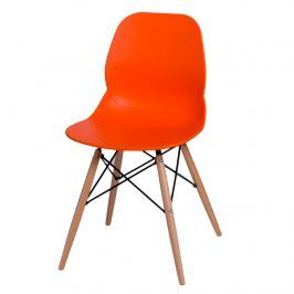 Krzesło D2 Layer DSW pomarańczowe