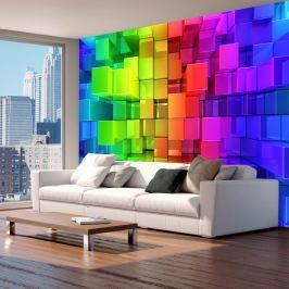 Fototapeta - Kolorowa układanka (300x210 cm)