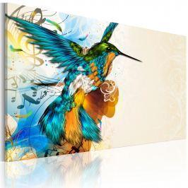 Obraz - Bird's music (60x40 cm vlies-leinwand cm)