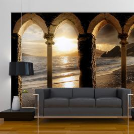 Fototapeta - Zamek na plaży (300x210 cm)