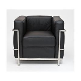 Fotel D2 Kubik czarna skóra TP