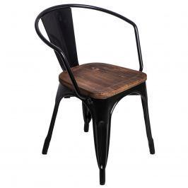 Krzesło Paris Arms Wood D2 czarne/sosna