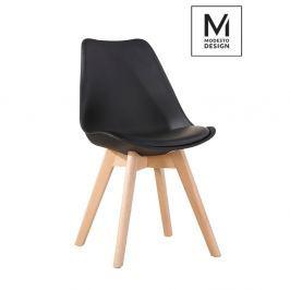 Krzesło Nordic Modesto Design czarne-podstawa dębowa