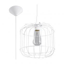 Lampa wisząca 25x25cm Sollux Lighting Celta biała