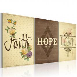 Obraz - Faith, Hope & Love (60x40 cm)