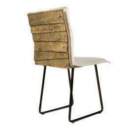 Krzesło na płozach Gie El Gont czarny/ecru
