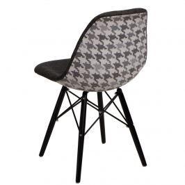 Krzesło P016W Pattern D2 szar-pepitka /black