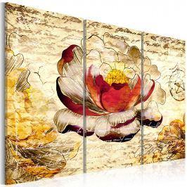 Obraz - Kwiat w stylu retro (60x40 cm)