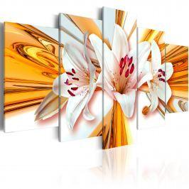Obraz - Złoto lilii (100x50 cm)