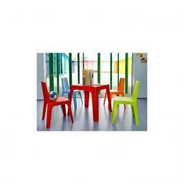 Stolik D2 Julieta czerwony blat biały,