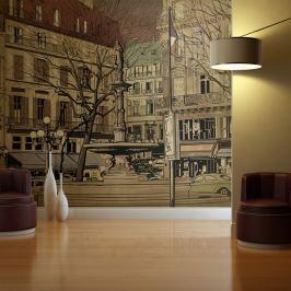 Fototapeta - Parisian fountain (200x154 cm)