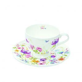 Filiżanki espresso z talerzykami 2 szt. Nuova R2S Romantic polne kwiaty