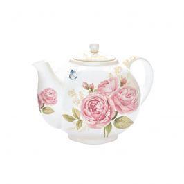 Czajnik z zaparzaczem 1L Nuova R2S Romantic biały róże
