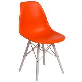 Krzesło P016W PP D2 pomarańczowe/białe
