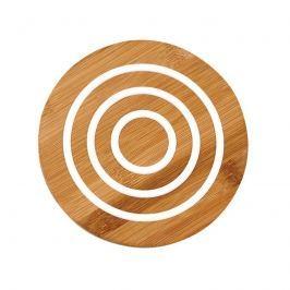 Bambusowa okrągła podstawka 20cm Ladelle Classic biała