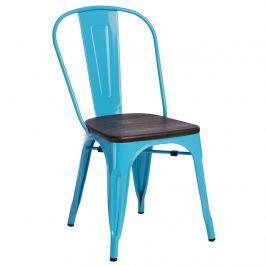Krzesło Paris Wood D2 niebieskie-sosna szczotkowana