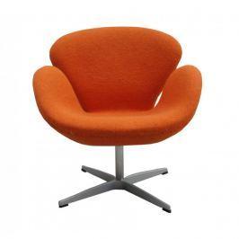 Fotel 72x65x77cm Quadre Nicotine pomarańczowy kaszmir