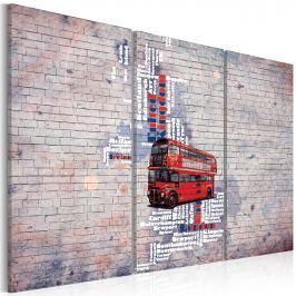 Obraz - Routemasterem dookoła Wielkiej Brytanii - tryptyk (60x40 cm)