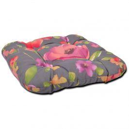 Poduszka na taboret 38x38cm Bazkar szaro-różowa