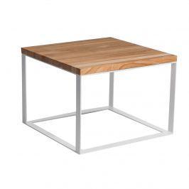 Stolik Square D2 45x45cm biały 40mm/czereśnia