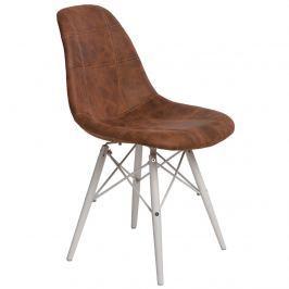Krzesło P016W Pico D2 brąz/białe
